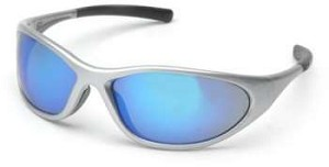 Zone II - Ice Blue Mirror Lens Silver Frame