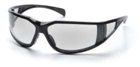 Exeter - Glossy Black Frame Clear Anti-Fog Lens