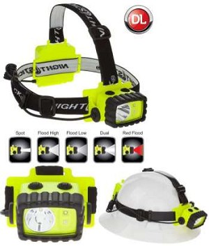 CASE OF 2 - Nightstick Intrinsically Safe Multi-Function Headlamp - LED - 3AA