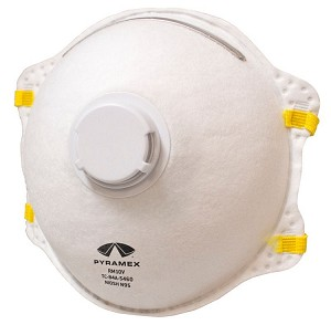 Box Of 10 - Pyramex N95 Particulate Respirators W/Valve