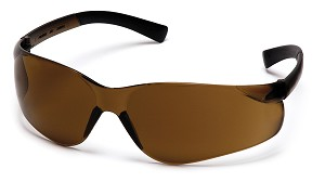 Ztek Safety Glasses - Dark Brown Lens