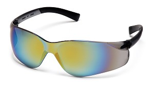 Ztek Safety Glasses - Gold Mirror Lens