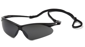 PMXTREME Safety Glasses - Black Frames Smoke Green Miror Lens