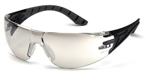 Endeavor PLUS Indoor/Outdoot Clear Mirror Lens Black and Gray Temples