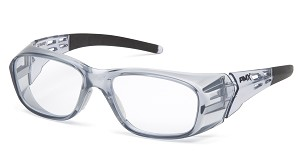6 Pack - Emerge Plus - Clear Full Reader Lens - Gray Frame +1.5