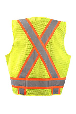"Occulux High Visibility Two-Tone Surveyor ""X"" Back Mesh Vest"