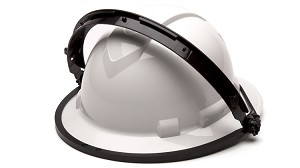 Dielectric Nylon Full Brim Hard Hat Adapter For Face Shield