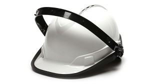 Dielectric Nylon Cap Style Hard Hat Adapter For Face Shield