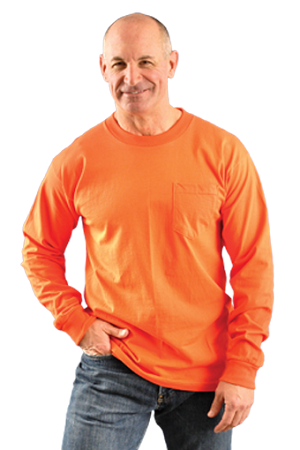 OccuLux Safety Long Sleve T-Shirt - W/ Pocket