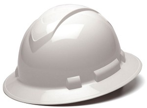 Ridgeline Full Brim Hard Hats - With 4 Point Ratchet Suspension