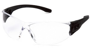 Trulock Safety Glasses - Clear Lens Black Temples