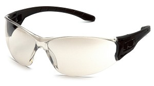Trulock Safety Glasses - Indoor/Outdoor Clear Mirror Lens Black Temples